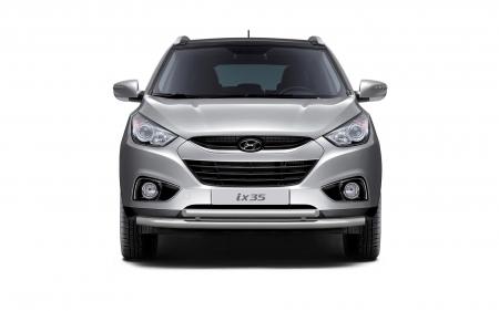 Защита переднего бампера двойная d63/51мм Hyundai IX35 (нерж)